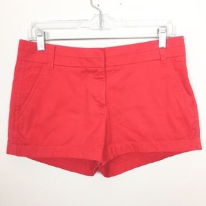 J. CREW Red Chino Shorts Size 4